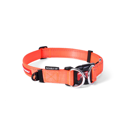 EzyDog Double Up Nylon Dog Collar Orange X Large (51-80cm)