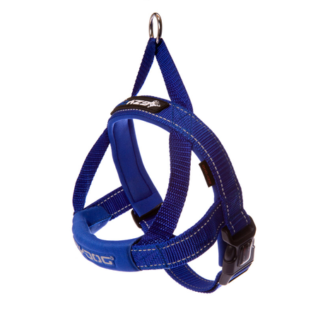 EzyDog Quick Fit Dog Harness Blue Medium (55-67cm Girth)