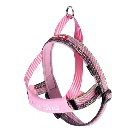 EzyDog Quick Fit Dog Harness Pink Large (67-84cm Girth)