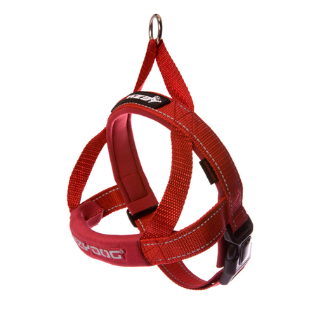 EzyDog Quick Fit Dog Harness Red Small (46-55cm Girth)