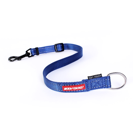 EzyDog Soft Touch Adjustable Nylon Dog Lead Extension Blue