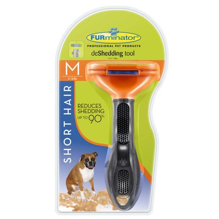 FURminator DeShedder Tool For Short Hair Dogs Orange Medium