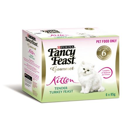 Fancy Feast Kitten Turkey Feast Canned Kitten Food  6x85gm