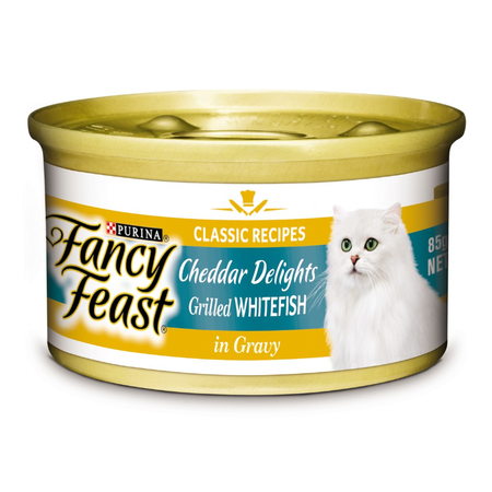 Fancy Feast White Label Cheddar Grilled Whitefish in Gravy - 85gm