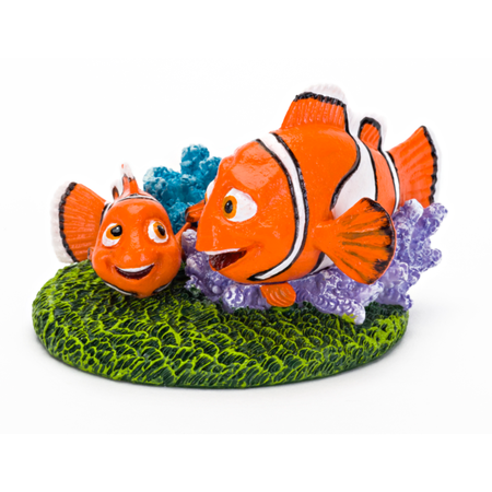 Finding Dory Tank Ornament - Nemo/Marlin w/Coral Small