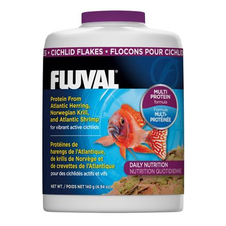 Fluval Cichlid Flakes Fish Food  125gm