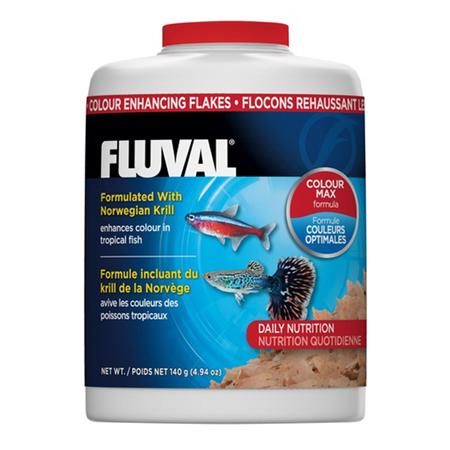 Fluval Colour Enhancing Flakes Tropical Fish Food  125gm