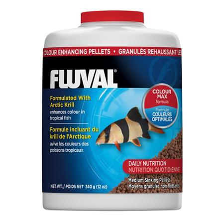 Fluval Colour Enhancing Sinking Pellet for Medium Tropical Fish  340gm
