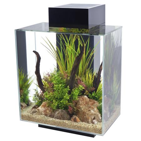 Fluval Edge Aquarium Fish Tank Black 46L