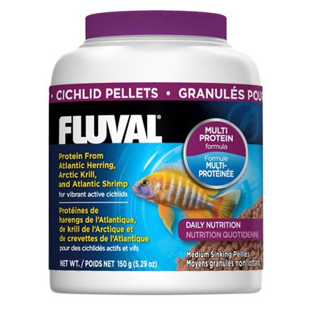 Fluval Sinking Pellet Fish Food for Medium Cichlids  150gm