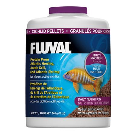 Fluval Sinking Pellet Fish Food for Medium Cichlids  340gm