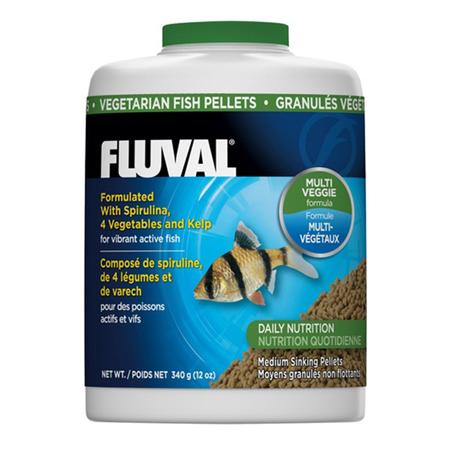 Fluval Sinking Vegetable Pellet Food for Medium Fish  340gm