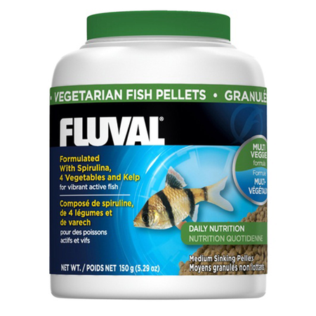 Fluval - Sinking Vegetable Pellet Food - for Medium Fish