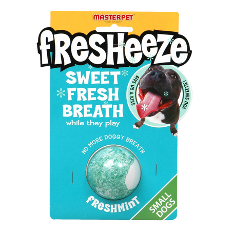 Fresheeze Fresh Mint Ball Rubber Dog Toy Green Small