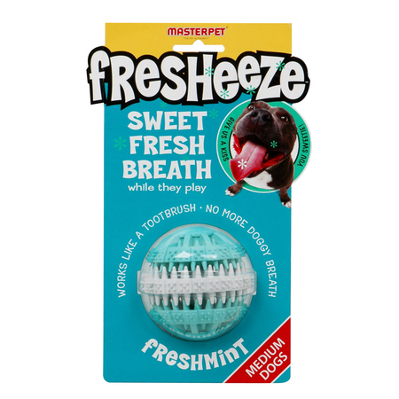 Fresheeze Rotating Dental Ball Dog Toy Green Medium