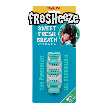 Fresheeze Rotating Dental Bone Dog Toy Green Small