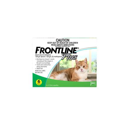 Frontline Plus Flea Treatment for Cats  6pk