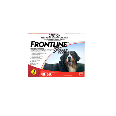 Frontline Plus Flea Treatment for Dogs 40kg 60kg   3pk