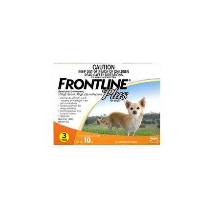 Frontline Plus Flea Treatment for Dogs  <10kg   3pk