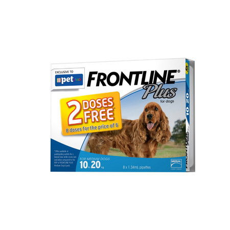 Frontline Plus Medium Dog 8 pack *8 Doses for the price of 6