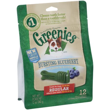 Greenies Bluberry Dental Chews - Regular 340gm