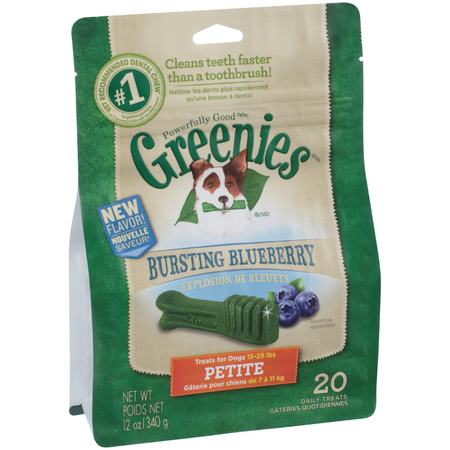 Greenies Blueberry Dental Chews - Petite 340gm