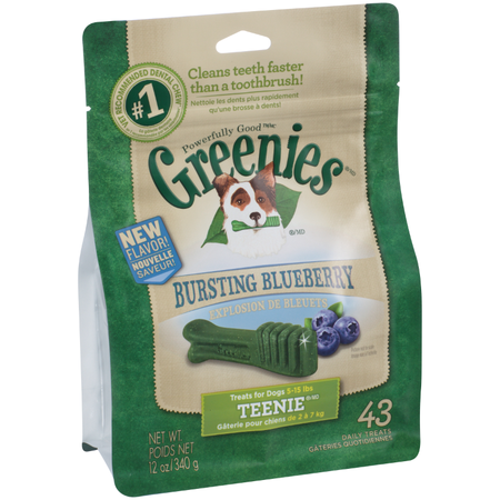 Greenies Blueberry Dental Chews - Teenie 340gm