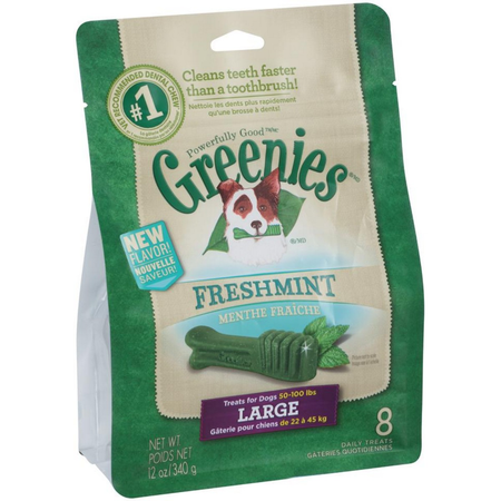 Greenies Freshmint Dental Chews - Large 340gm