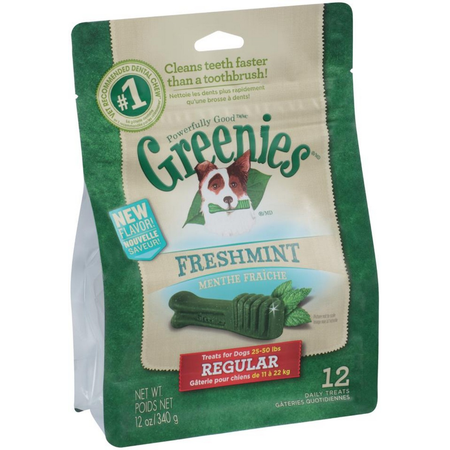 Greenies Freshmint Dental Chews - Regular 340gm