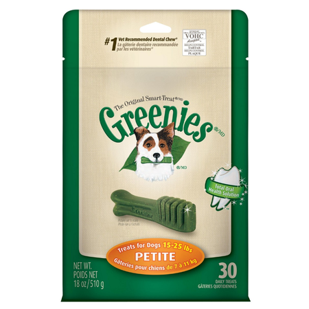 Greenies Petite Dental Chews for Small Dogs  Mega Treat Pack (510g)