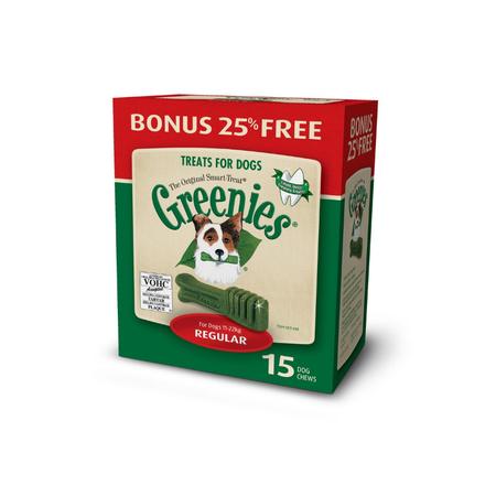 Greenies Regular Dental Chews for Medium Dogs  Bonus Box (425g)