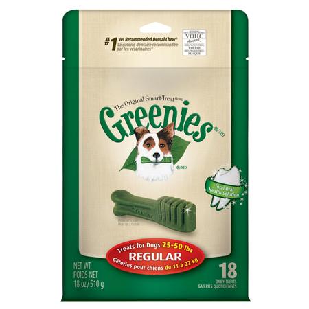 Greenies Regular Dental Chews for Medium Dogs  Mega Treat Pack (510g)