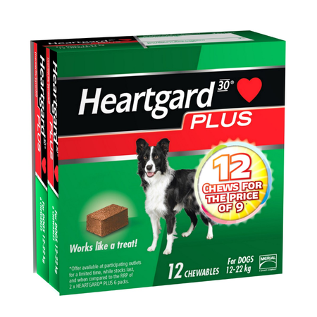 Heartguard Plus - Worming Treatment for Medium Dogs 12kg - 22kg