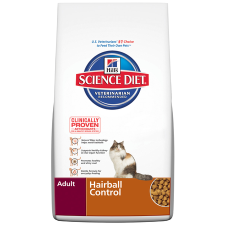 Hill's Science Diet Adult Hairball Control Dry Cat Food  5kg
