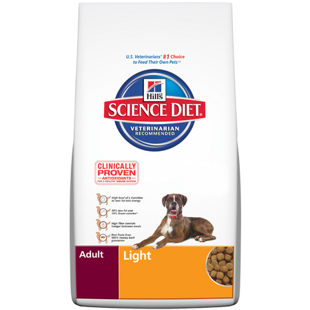 Hill's Science Diet Adult Light Dry Dog Food  15kg