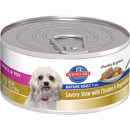 Hills Science Diet Canine Adult Mature Small/Toy Stew Chicken & Vegetables 156gm