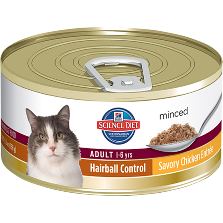 Hill's Science Diet Feline Adult Hairball Control Savory Chicken Entr�e - 156gm