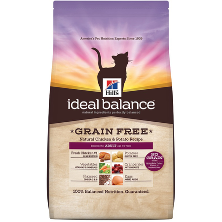 Hill's Science Diet Ideal Balance Adult Grain Free Chicken and Potato Dry Cat Food  907gm