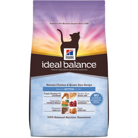 Hill's Science Diet Ideal Balance Kitten Chicken and Brown Rice Dry Kitten Food  1.36kg