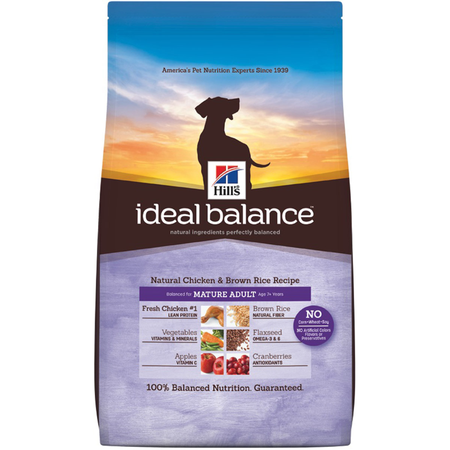 Hill's Science Diet Ideal Balance Mature Chicken and Brown Rice Dry Dog Food  13.6kg