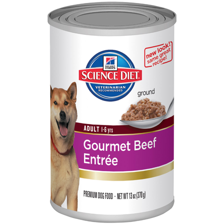 Hill's Science Diet - Adult - Gourmet Beef Entree - Canned Dog Food