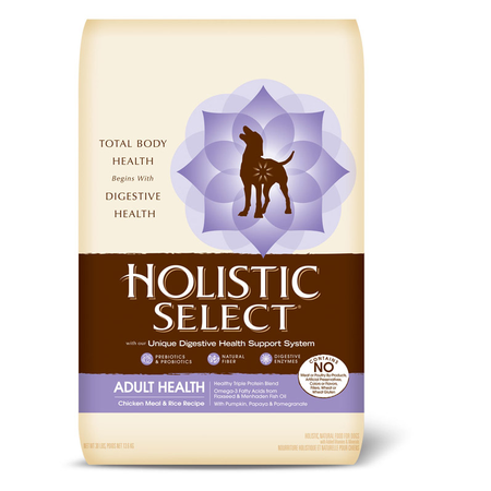 Holistic Select Adult Chicken and Rice Dry Dog Food  13.6kg