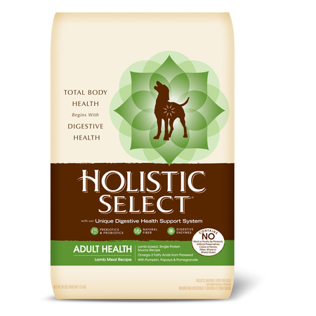Holistic Select Adult Lamb, Rice and Oatmeal Dry Dog Food  13.6kg
