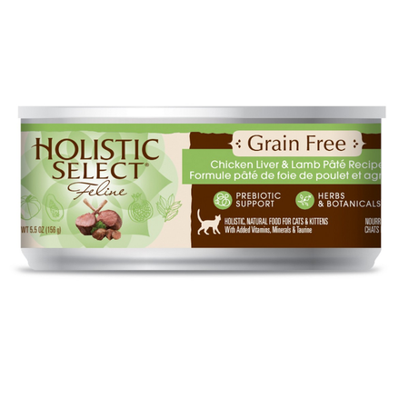 Holistic Select Grain Free Chicken, Liver and Lamb Canned Cat Food  156gm