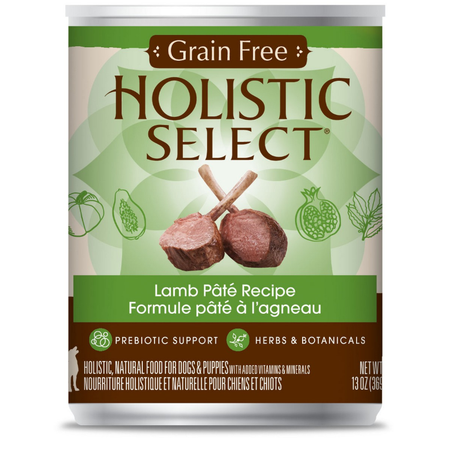 Holistic Select Grain Free Lamb Recipe 369gm