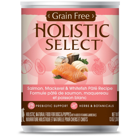 Holistic Select Grain Free Salmon Mackerel & White Fish 369gm