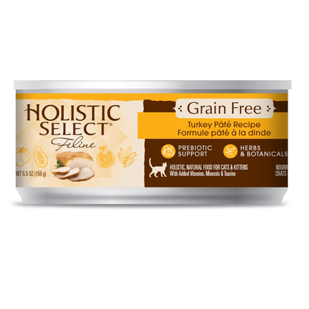Holistic Select Grain Free Turkey Canned Cat Food  156gm
