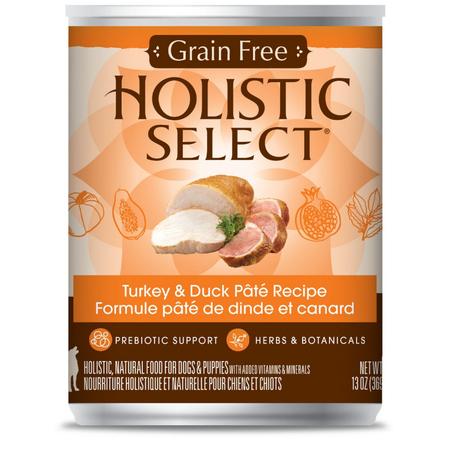 Holistic Select Grain Free Turkey & Duck Recipe 369gm