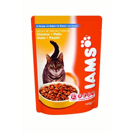 Iams Cat Pouch Adult Chicken in Gravy - 100gm