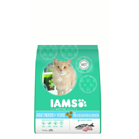 Iams Cat Proactive Health Adult Indoor Weight & Hairball Care - 700g